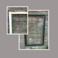 Oud glas in lood raam