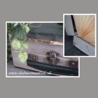 Oud groen koffertje